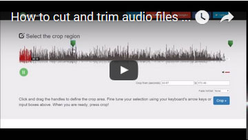 Youtube - How to trim audio files online
